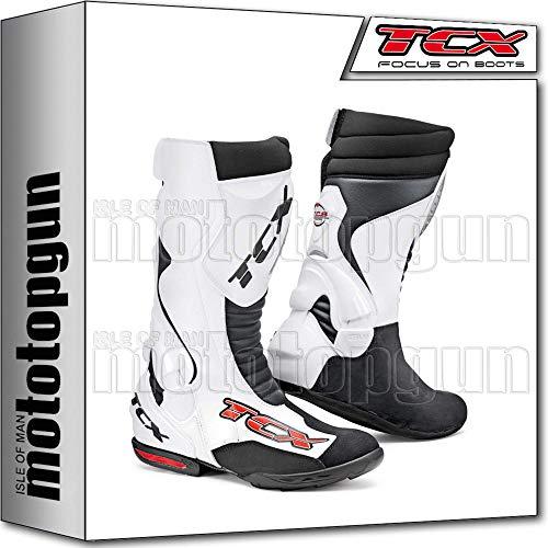 TCX Scarpe Stivali Moto 7801 Racing Speedway Bianco tg 46/12