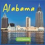 Alabama Calendar 2022: Official Alabama 2022 Calendar (12 Months) , Travel Calendar 2022, Square 2022 Calendar