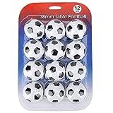 Juego de Mesa de fútbol Balls-12pcs Juego de reemplazo de Juego de fútbol Mini 36mm Balones de fútbol Juego de Accesorios