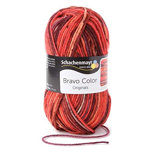 Schachenmayr Handstrickgarne Bravo Color, 50g Vesuv