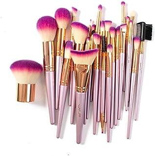 26pcs Professional Makeup Brush Set, Gradient Pink Rose Gold Kabuki Brushes, Primer Foundation Powder Highlighter Syntheti...