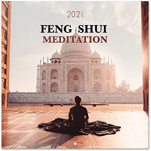 Official Feng Shui Meditation Wall Calendar Monthly Planner 16 Months 12 x 12 inches Wall Calendar product image