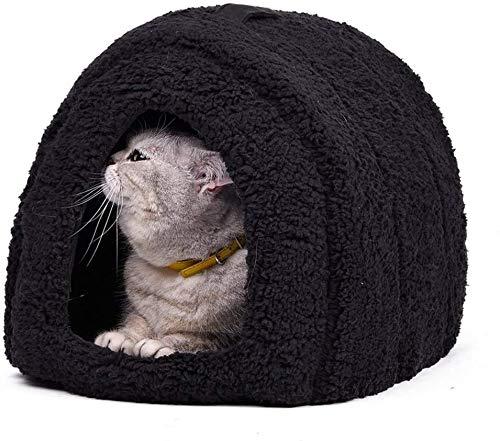 YLCJ Spiritualist hond kennel Kleine honden Huiskatten Knuffels en boogvormige bedden Gebogen vorm Gemakkelijk te wassen Om te leven met ademend katoen voor katten, M, roze