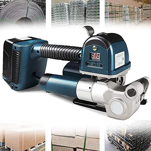 lxiluv Empacadora Eléctrica Portátil, flejadora de Soldadura automática, para Máquina de Bandas de Correa de 11-19mm Pet/PP