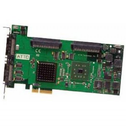 Atto EXPRESSPCI UL5D - Dual-Channel, Ultra320 SCSI, PCIe, Host Adapter 640 Mbit/s - Accesorio de Red (Ultra320 SCSI, PCIe, Host Adapter, Alámbrico, PCI Express, 640 Mbit/s)
