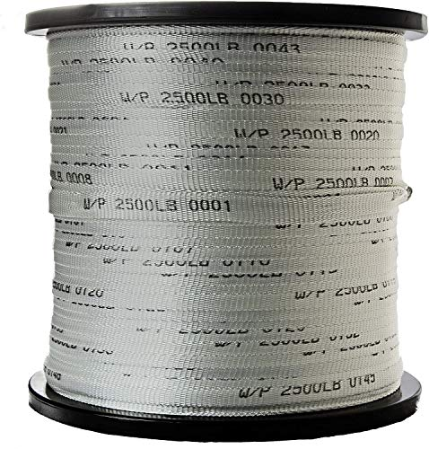 """Neptco Polyester Muletape, Pulll Tape Used for Installing Cables in Underground Conduit, Made in USA (2500 Pound 3/4"""" Pull Tape, 3000 Ft Reel)"""