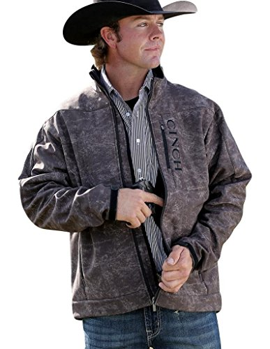 Cinch Men's Bonded Softshell Jacket with Concealed Carry Pockets, Marled Brown, Large