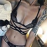 Cloudy Sexy Lingerie Plus Size Tamaño Mujer Abrir Sujetador Set Disfraces...