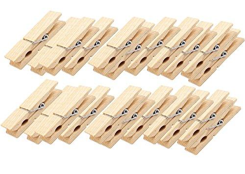 Logbuch-Verlag 24 Wäscheklammern braun natur aus Holz Holzklammern 4,5 x 0,7 cm Deko Verpackung Verzierung zum Basteln Geschenktüten Adventskalender-Tüten