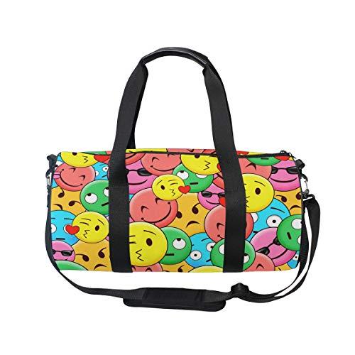 MNSRUU Funny Emoji Große Reisetasche für unterwegs, Unisex, hohe Kapazität, großes Gepäck, Sporttasche