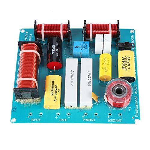 3-weg luidspreker Crossover-filter, frequentieverdeler voor tweeter Mediant Bass Drieweg KTV/Stage Professionele luidspreker Crossover DIY Upgrade Tool, Home Audio Crossovers
