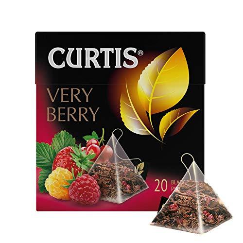 Curtis schwarzer Tee Very Berry 20 Pyramidenbeutel Pyramid Tea