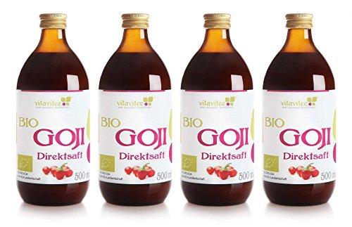 Vitavitee Bio Goji Direktsaft Gojisaft (4 x 500 ml)
