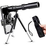 LICHUXIN Telescopio monocular de 4K 10-300x40mm, monoculares de Zoom de Mini retráctil portátiles con Adaptador de teléfono móvil y trípode para observación de Aves al Aire Libre