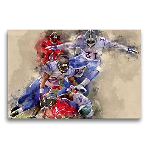 CALVENDO Premium Textil-Leinwand 75 x 50 cm Quer-Format American Football, Leinwanddruck von Peter Roder