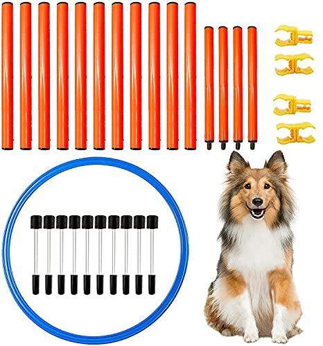 Hund Agility Set, Hunde Agility Hürden Set,Hürdenstange,Dog Agility Set,Agility Ausrüstungs Set für Hunde,Hundetrainings-Set,Agility für Hunde