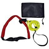 YYST Swim Bungee Training Belt Swim Resistance Belt Swim Exerciser Belt Swim Tether (One Waist Belt, One Bungee Cord, One Loop) Storage Mesh Bag