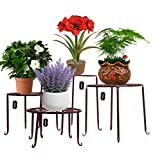 AISHN Metal Plant Stand 4 in 1 Potted Irons Planter Supports Floor Flower Pot...