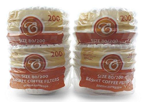 800 Stück 80/200mm Korbfilter Kaffeefilter - kompatibel mit Beem, Cuisinart, Phillips, Gastroback usw.