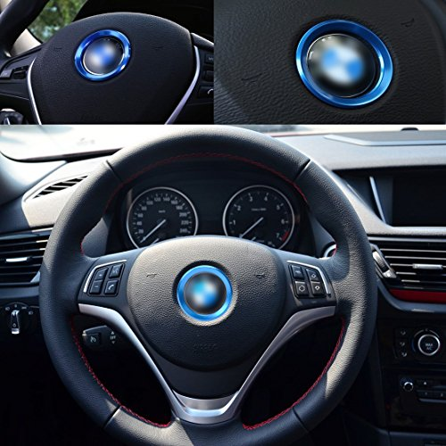 beler Azul Car Steering Center Decoration Anillo Trim Cover