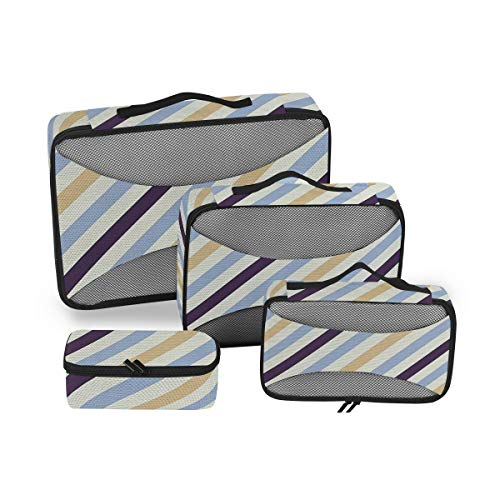 Geometric Abstract 4pcs Toiletry Bag - Large Cosmetic Makeup Travel Organizer for Men & Women