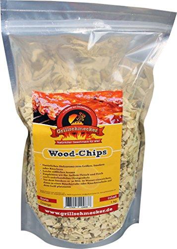 Grillschmecker Wood Chips - Natürliches Holzaroma zum Grillen, Smoken & Räuchern - 1 kg Orangenholz