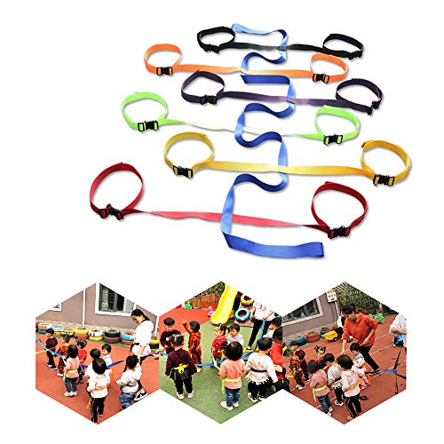 KIKIGOAL Children's Walking Ropes for Preschool Daycare School Kids Outdoor Colorful Waist Belt Rope for Up to 12 Children 2 Teachers (Waist Belt Style)