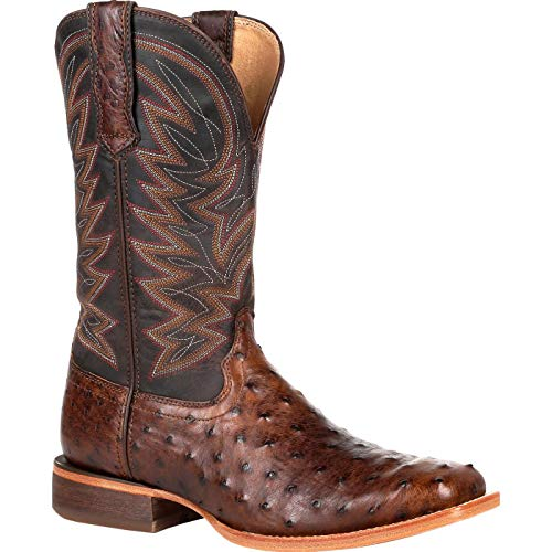Durango Premium Exotic Full-Quill Antiqued Saddle Western Boot