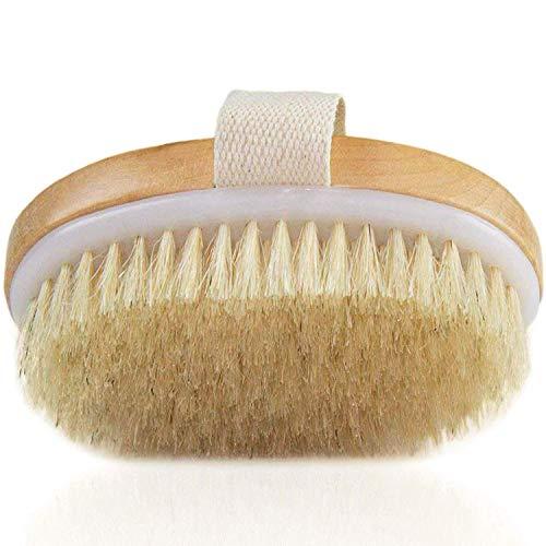Dry Brushing Body Brush - Exfoliating Brush - Natural Bristle Dry Brush...