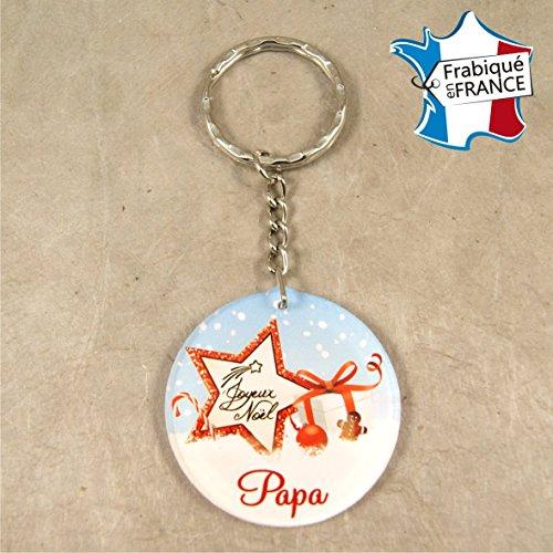 Porte Clef – Joyeux Noël Papa (Cadeau de Noël pour Papa - décoration de Sapin)