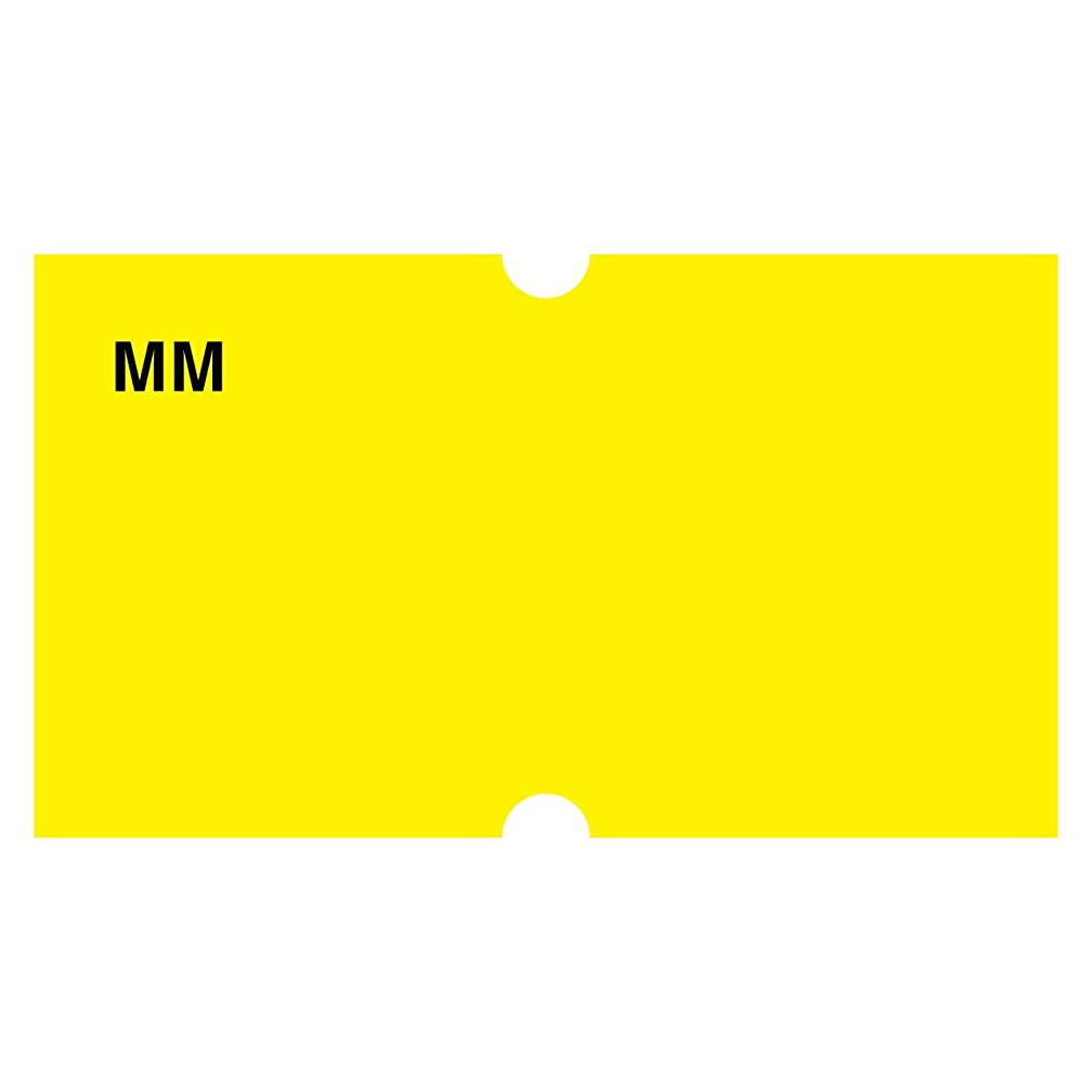 DayMark IT110434 MoveMark Date Coder Blank Removable Label, For DM3 SpeedyMark 10 1-Line Marking Gun, Yellow (Pack of 8 Rolls)
