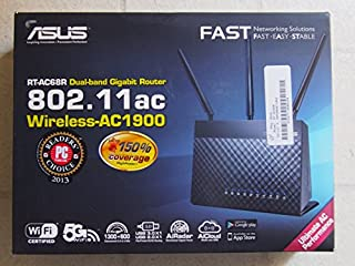ASUS (RT-AC68R) Wireless-AC1900 Dual-Band Gigabit Router (B00I7EM752) | Amazon price tracker / tracking, Amazon price history charts, Amazon price watches, Amazon price drop alerts