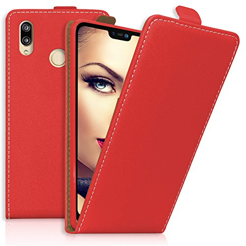 mtb more energy® Flip-Hülle Tasche für Huawei P20 Lite (5.84'') - rot - Kunstleder - Klapp-Cover Hülle Hülle