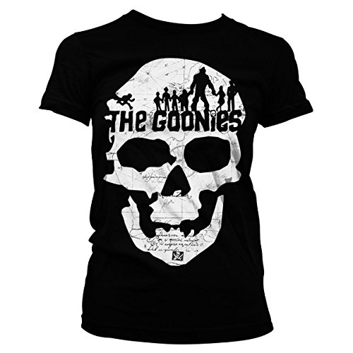 Official The Goonies Skull Girly T-shirt, Sizes 8 to 16