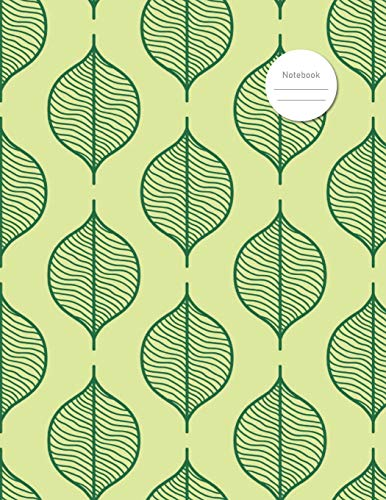 Notebook: Simple Design of Green Leaves - School, College, Work, Business Notes, Personal Journaling
