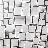 Venilia adhesiva Fragment stone decorativa, muebles, papel pintado, lámina autoadhesiva, PVC, sin ftalatos, gris, 1,5m, 54869, 45 cm x 1,5 m