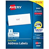 Avery Address Labels with Sure Feed for Inkjet Printers, 1' x 2-5/8', 3,000 Labels, Permanent Adhesive (8460), White