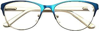 Aiweijia Reading Glasses Retro Unisex Vintage Metal Frame Reading Glasses(1.0 to 3.5)