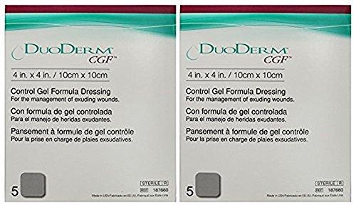 "ConvaTec DuoDerm CGF 4"" x 4"" Control Gel Formula Dressing 10 (2 Boxes)"
