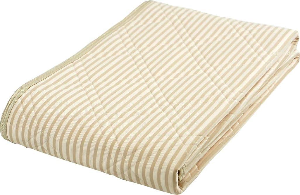 最もカーフ銀アイス眠 敷きパッド EX麻 アイスミン EX 麻 敷きパッド 2019 3131-6210-9500 (ブラウン, シングル)