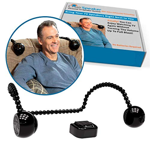 ChairSpeaker Voice Enhancing TV Speaker System Lets You Hear Clearly Without Blasting Annoying Loud Sound, Still Hear Others, Phone, Door Bell, Alarms, Best Wireless TV Speakers for Hearing Impaired