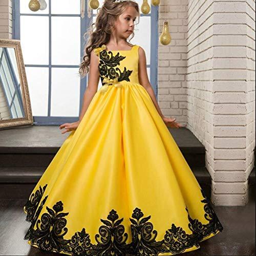 Kinderen kleding Baby Kids meisje aankleden Winter breien,Yellow,120cm