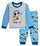 Disney - Pigiama per bambini a maniche lunghe, motivo: Topolino, idea regalo L'umore attuale 9-12 Mesi