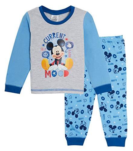 Disney - Pigiama per bambini a maniche lunghe, motivo: Topolino, idea regalo L'umore attuale 6-9 Mesi
