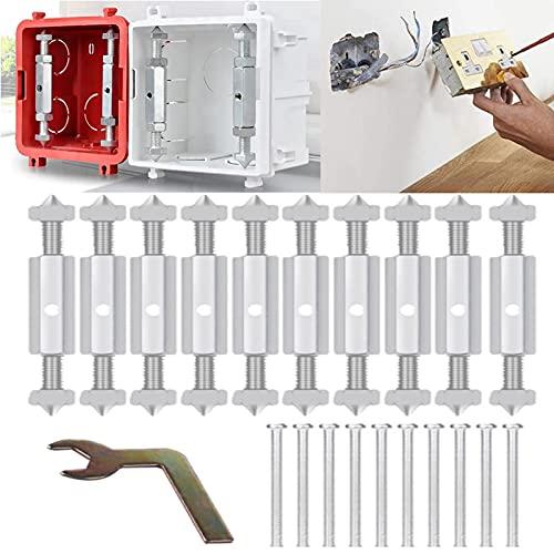 Scatola Derivazione Asta di Supporto Parti di riparazione della scatola dell'interruttore a parete in metallo, viti di riparazione della scatola della presa dell'interruttore (Tipo 86:66-85 mm)
