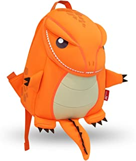 Coavas Kids Backpack - Funny Dinosaur Backpack Cute Orange - Gift for Toddlers