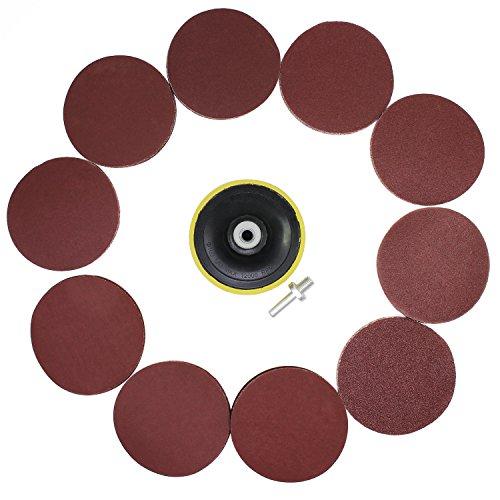 HSeaMall 50 PCS 100 MM / 4 zoll Schleifscheiben Pads Schleifpapier Haken und schleife 60 80 100 120 180 240 320 400 600 800 Körner