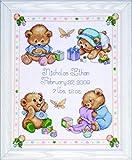 Tobin - Kit Punto Croce per Nascita, Motivo: Orsetti, Multicolore
