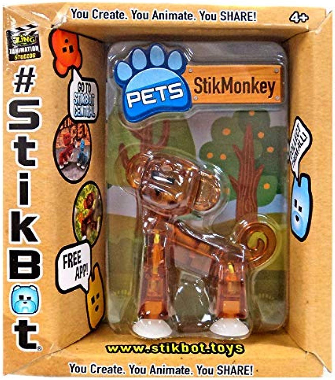 Stikbot StikMonkey Figure Translucent Brown