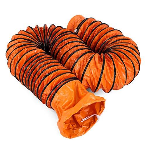 Moracle Tubo de Manguera de Ventilación PVC 32 pies / 10 m Ajuste Conductos de Ventilación de PVC Portátiles Conductos de Ventilación Flexibles 12 Pulgadas 300 mm
